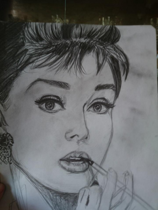 Audrey Hepburn by Semra